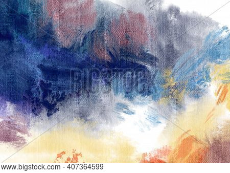 Abstract Background. Acrylic Painting. Hand Drawn Illustration.