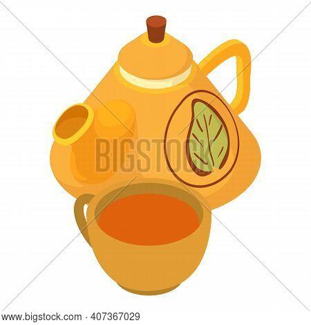Herbal Tea Icon. Isometric Illustration Of Herbal Tea Vector Icon For Web