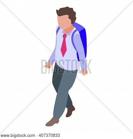 Backpack School Uniform Icon. Isometric Of Backpack School Uniform Vector Icon For Web Design Isolat