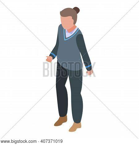 Autumn School Uniform Icon. Isometric Of Autumn School Uniform Vector Icon For Web Design Isolated O