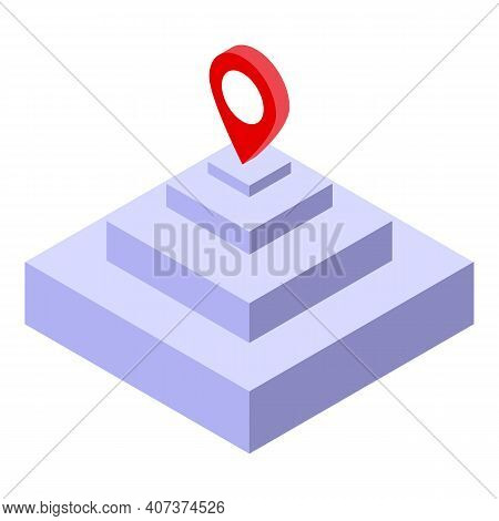 Organisation Hierarchy Icon. Isometric Of Organisation Hierarchy Vector Icon For Web Design Isolated