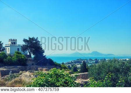 Mandraki Artificial Bay, Created In Antiquity Carthage. Gulf Of Tunisia - A Large Gulf Of The Medite