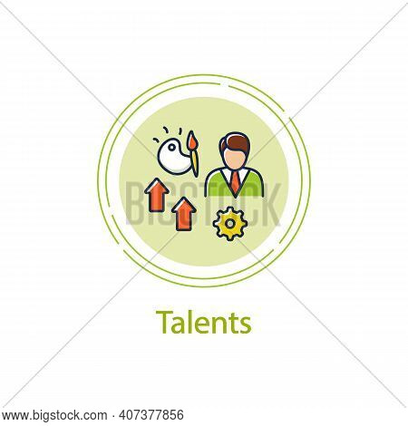 Talents Development Concept Line Icon. Personal Growth Concept. Self Improvement And Talent Acquisit