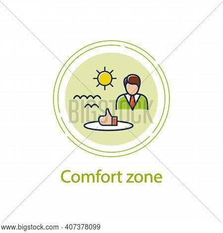 Comfort Zone Concept Line Icon. Route To Success. Self Improvement And Self Realization. Business An