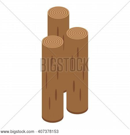 Forest Wood Icon. Isometric Of Forest Wood Vector Icon For Web Design Isolated On White Background