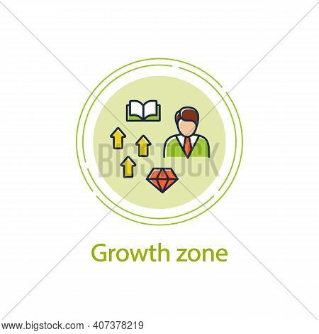 Growth Zone Concept Line Icon. Route To Success. Self Improvement And Self Realization. Business And