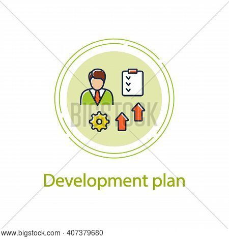 Personal Development Plan Concept Line Icon. Personal Growth Concept. Self Improvement And Self Real