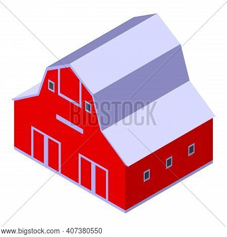 Barn Icon. Isometric Of Barn Vector Icon For Web Design Isolated On White Background