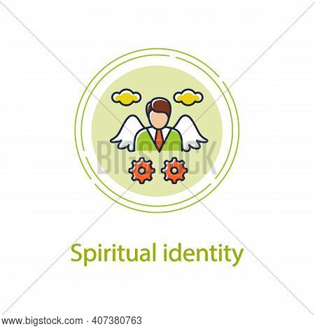 Spiritual Identity Concept Line Icon. Personal Growth Concept. Self Identity. Meaning And Ultimate E