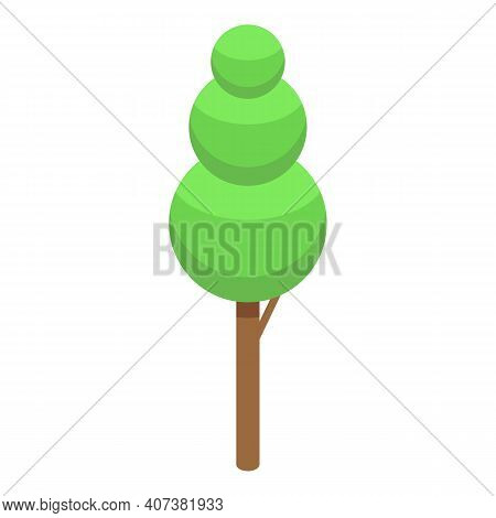 Alley Tree Icon. Isometric Of Alley Tree Vector Icon For Web Design Isolated On White Background