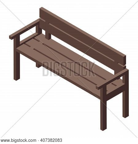 City Bench Icon. Isometric Of City Bench Vector Icon For Web Design Isolated On White Background
