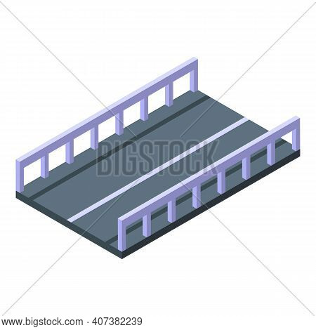 Highway Icon. Isometric Of Highway Vector Icon For Web Design Isolated On White Background