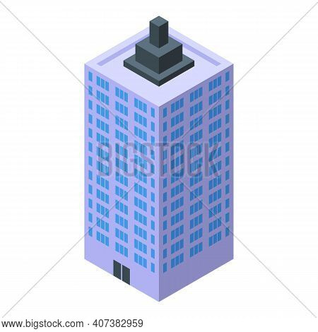 Urban Cityscape Icon. Isometric Of Urban Cityscape Vector Icon For Web Design Isolated On White Back
