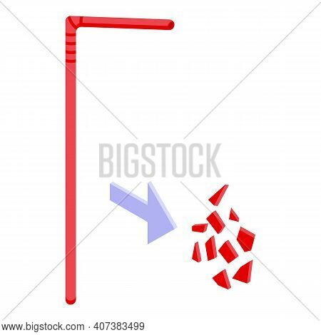 Biodegradable Stick Icon. Isometric Of Biodegradable Stick Vector Icon For Web Design Isolated On Wh