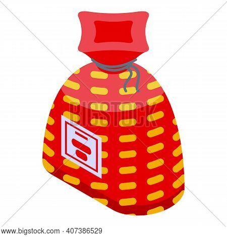 Korean Lucky Bag Icon. Isometric Of Korean Lucky Bag Vector Icon For Web Design Isolated On White Ba