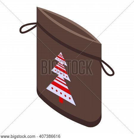 New Year Lucky Bag Icon. Isometric Of New Year Lucky Bag Vector Icon For Web Design Isolated On Whit