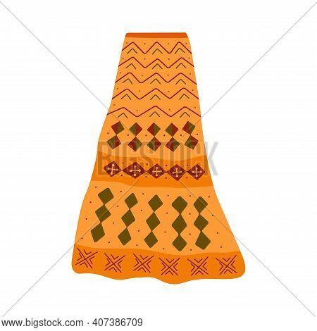 Womens Maxi Skirt With Abstract Geometric Scandinavian Print. Long Skirt. Garment. Colorful Hand Dra