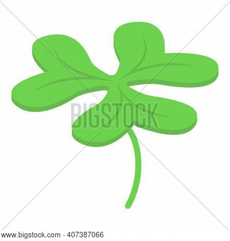 Clover Icon. Isometric Of Clover Vector Icon For Web Design Isolated On White Background