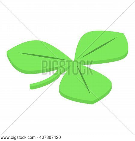 Three Leaf Clover Icon. Isometric Of Three Leaf Clover Vector Icon For Web Design Isolated On White