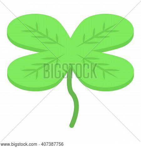 Wish Clover Icon. Isometric Of Wish Clover Vector Icon For Web Design Isolated On White Background