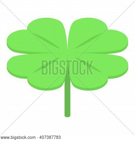 Charm Leaf Clover Icon. Isometric Of Charm Leaf Clover Vector Icon For Web Design Isolated On White