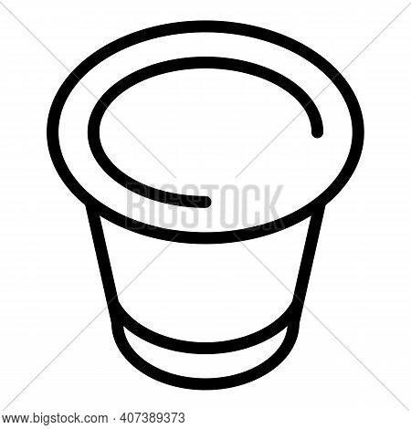 Barista Capsule Icon. Outline Barista Capsule Vector Icon For Web Design Isolated On White Backgroun