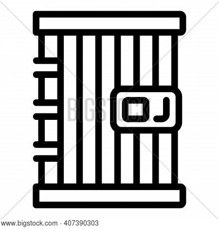 Jail Cell Icon. Outline Jail Cell Vector Icon For Web Design Isolated On White Background