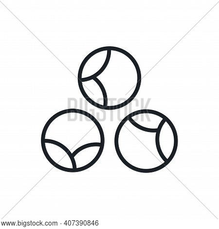 Brussels Sprouts Icon. Vector Linear Icon, Contour, Shape, Outline Isolated On A White Background. T