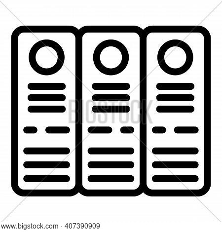 Justice Folders Icon. Outline Justice Folders Vector Icon For Web Design Isolated On White Backgroun