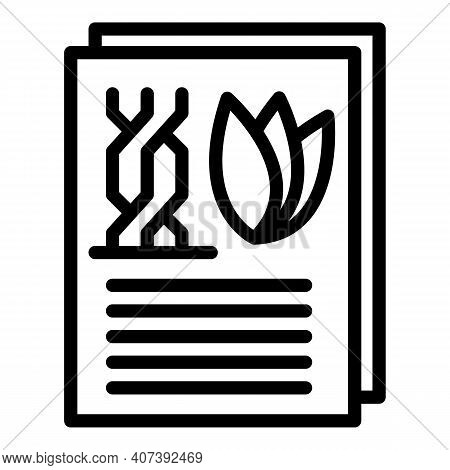 Gmo Documents Icon. Outline Gmo Documents Vector Icon For Web Design Isolated On White Background