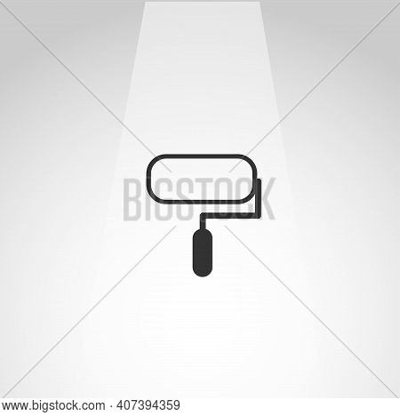 Painting Roller Vector Icon, Painting Roller Simple Isolated Icon
