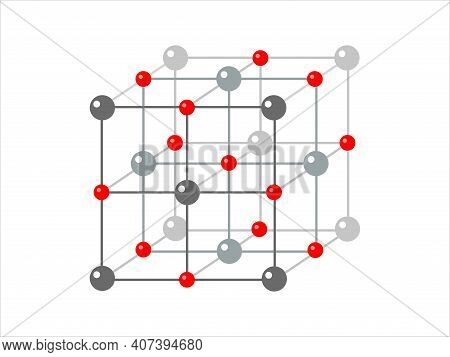 Vector Scientific Model Of Crystal Structure. Photon, Proton, Electron.   Vector Structure Of сrysta
