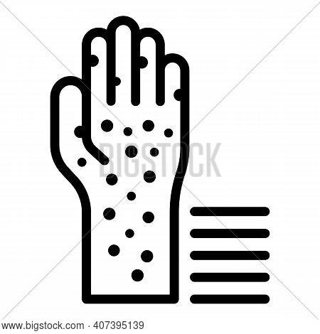 Skin Rash Icon. Outline Skin Rash Vector Icon For Web Design Isolated On White Background