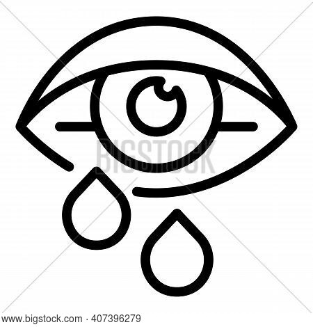 Allergic Eye Icon. Outline Allergic Eye Vector Icon For Web Design Isolated On White Background