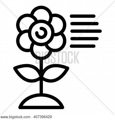 Allergen Flower Icon. Outline Allergen Flower Vector Icon For Web Design Isolated On White Backgroun