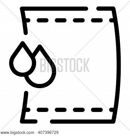 Wet Towel Icon. Outline Wet Towel Vector Icon For Web Design Isolated On White Background