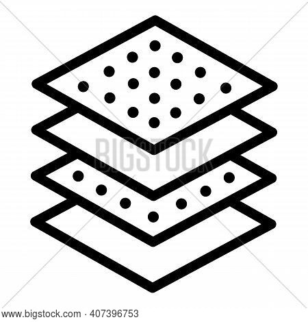 Paper Handkerchief Icon. Outline Paper Handkerchief Vector Icon For Web Design Isolated On White Bac