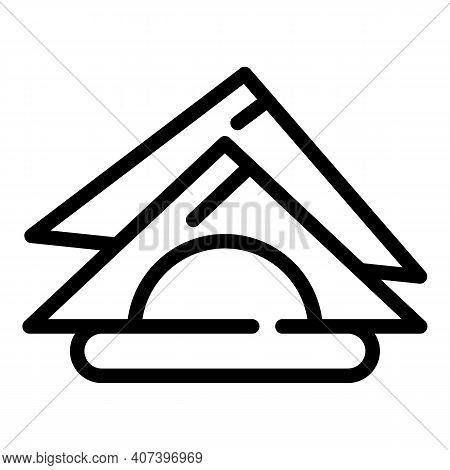Folded Napkins Icon. Outline Folded Napkins Vector Icon For Web Design Isolated On White Background