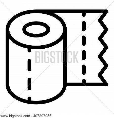 Roll Handkerchief Icon. Outline Roll Handkerchief Vector Icon For Web Design Isolated On White Backg