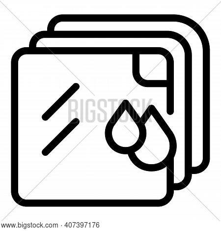 Hygiene Handkerchief Icon. Outline Hygiene Handkerchief Vector Icon For Web Design Isolated On White