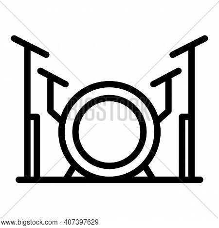 Band Drums Icon. Outline Band Drums Vector Icon For Web Design Isolated On White Background