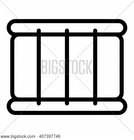 Concert Drum Icon. Outline Concert Drum Vector Icon For Web Design Isolated On White Background