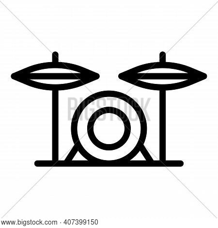 Disco Drums Icon. Outline Disco Drums Vector Icon For Web Design Isolated On White Background