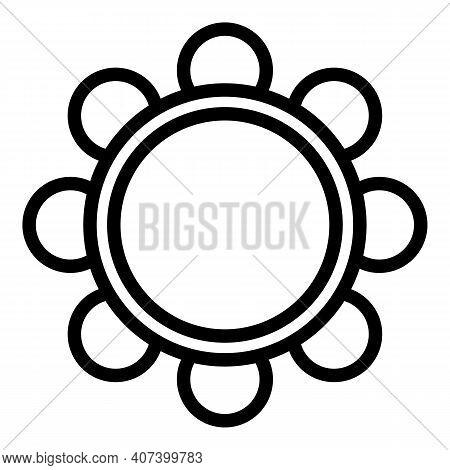 Orchestra Tambourine Icon. Outline Orchestra Tambourine Vector Icon For Web Design Isolated On White