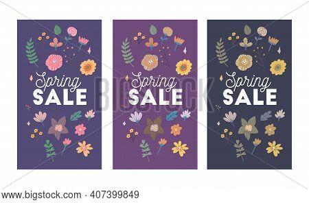 Bright Spring Sale Design. Vector Resizable Background.
