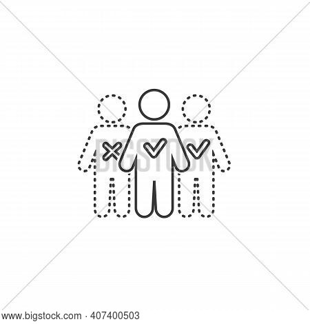 Absent Vector Illustration Can Be Used For Topics Attendance, Absent, Meeting Line Icon Concept