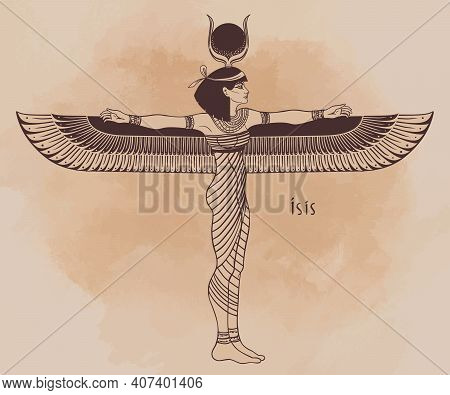 Isis, Goddess Of Life And Magic In Egyptian Mythology. One Of The Greatest Goddesses Of Ancient Egyp
