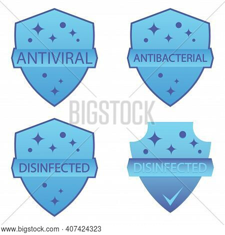 Immune Guard. Antimicrobial Resistant Badges. Coronavirus Protection Shield. Antibacterial Protectio