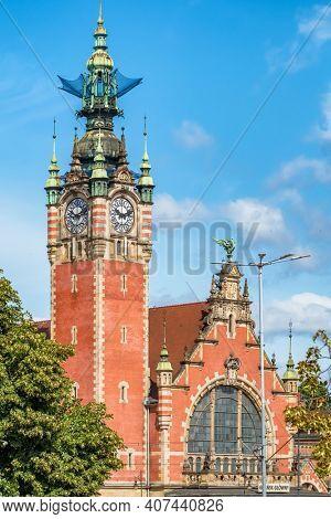 Gdansk, Poland - July 22, 2019: Gdansk Glowny is the main railway station in Gdansk, Poland