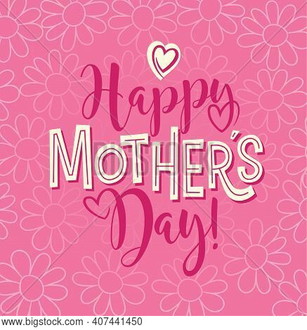 Happy Mother's Day Typography Design For Greeting Cards, Social Media, Design Elements. Retro Styled